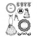 Свадьба Штампы на резиновой основе для скрапбукинга, кардмейкинга Stamperia