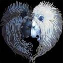 Львы солнца и луны Ткань с нанесенным рисунком для вышивки бисером Конек 8510