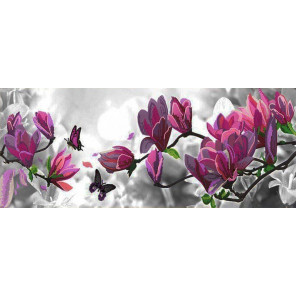 Цветущая магнолия Ткань с нанесенным рисунком для вышивки бисером Конек 8511