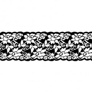 Цветы, бордюр Штампы на резиновой основе для скрапбукинга, кардмейкинга Stamperia