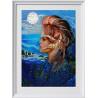 Пример оформления в рамку Шум моря Ткань с нанесенным рисунком для вышивки бисером Конек 8515