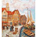 Городской причал по мотивам картины К.Т.Вагнера Набор для вышивания Палитра 07.023