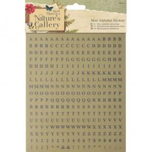 Алфавит мини Nature's Gallery Наклейки для скрапбукинга, кардмейкинга Docrafts