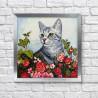 Кот в саду Алмазная мозаика вышивка Гранни AG2499