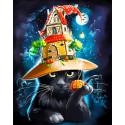 Магический кот Алмазная мозаика вышивка Гранни AG2515