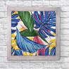 Тропические листья Алмазная мозаика вышивка Гранни AG2516