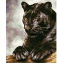 Черная пантера на отдыхе Раскраска картина по номерам на холсте GX38115