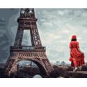 Хмурое небо Парижа Раскраска картина по номерам на холсте GX38098