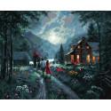 Ночная прогулка Раскраска картина по номерам на холсте GX38038