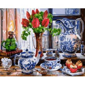 Вечернее чаепитие Раскраска картина по номерам на холсте GX38031