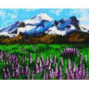 Горный пейзаж Раскраска картина по номерам на холсте GX37989