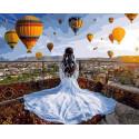 Принцесса и воздушные шары Раскраска картина по номерам на холсте GX37984