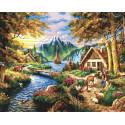 Сказочные горы Раскраска картина по номерам на холсте GX38154