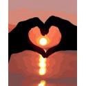 Закат с любовью Раскраска картина по номерам на холсте GX38227