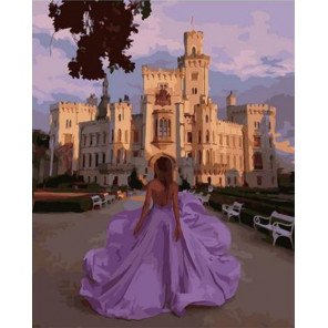 Принцесса на прогулке Раскраска картина по номерам на холсте GX38222