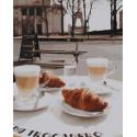Завтрак в Париже Раскраска картина по номерам на холсте GX38216