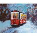 Морозное утро в трамвае Раскраска картина по номерам на холсте GX38181