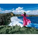 Морские волны Раскраска картина по номерам на холсте GX38167