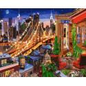 Ночной город Раскраска картина по номерам на холсте GX38155