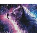 Небесный волк Алмазная мозаика вышивка на подрамнике GF4545