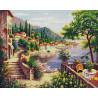 Восточные сады Алмазная мозаика вышивка на подрамнике GF4477