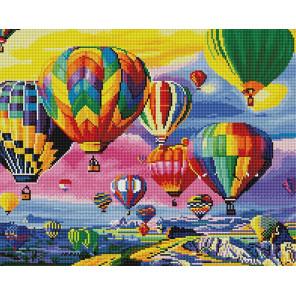 Парад воздушных шаров Алмазная мозаика вышивка на подрамнике GF4453