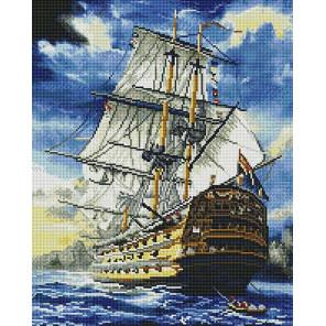 Корабль в штиль Алмазная мозаика вышивка на подрамнике GF4716