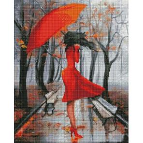 Осенний дождь Алмазная мозаика вышивка на подрамнике GF4715