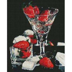 Шампанское и клубника Алмазная мозаика вышивка на подрамнике GF4705