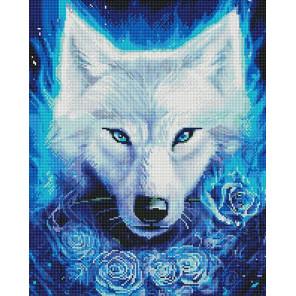 Светящийся волк Алмазная мозаика вышивка на подрамнике GF4678