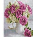 Розы в кувшине Алмазная мозаика вышивка на подрамнике GF4439