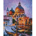 Ночная Венеция Алмазная мозаика вышивка на подрамнике GF4366