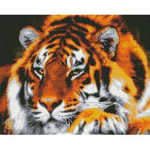 Могучий тигр Алмазная мозаика вышивка на подрамнике GF4362
