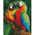 Семья попугаев Алмазная мозаика вышивка на подрамнике GF4650