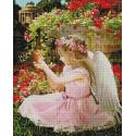 Девочка-ангелочек Алмазная мозаика вышивка на подрамнике GF4541