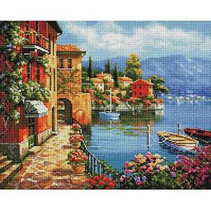 Итальянская набережная Алмазная мозаика вышивка на подрамнике GF4523