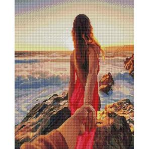 Романтический закат Алмазная мозаика вышивка на подрамнике GF4490