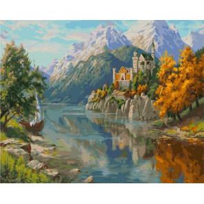 Замок в горах 40х50 см Раскраска картина по номерам на холсте PK90032