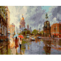 Летний дождь в Питере 40х50 см Раскраска картина по номерам на холсте PK90028