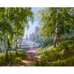 Березовая роща 40х50 см Раскраска картина по номерам на холсте PK90027