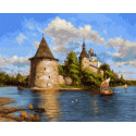 Псковский кремль 40х50 см Раскраска картина по номерам на холсте PK90021