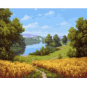 Хлеба зреют 40х50 см Раскраска картина по номерам на холсте PK90016