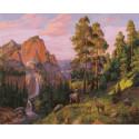 На поляне 40х50 см Раскраска картина по номерам на холсте PK90009