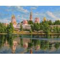 Новодевичий монастырь 40х50 см Раскраска картина по номерам на холсте PK90007