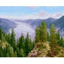 Песнь о Сибири 40х50 см Раскраска картина по номерам на холсте PK90006