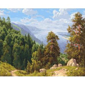 Солнечный день над Волгой 40х50 см Раскраска картина по номерам на холсте PK90005