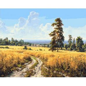 Поле/Август 40х50 см Раскраска картина по номерам на холсте PK90003