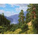 Август 40х50 см Раскраска картина по номерам на холсте PK90002
