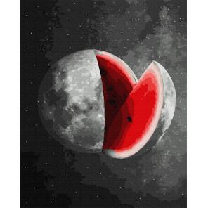 Арбузная луна Раскраска картина по номерам на холсте GX38317
