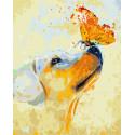 Золотистый ретривер Раскраска картина по номерам на холсте GX9057